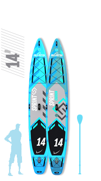 Family SUP, Bluefin SUP 18′ Mammoth Stand Up Paddle Board Kit – 10 Person Group / Family SUP