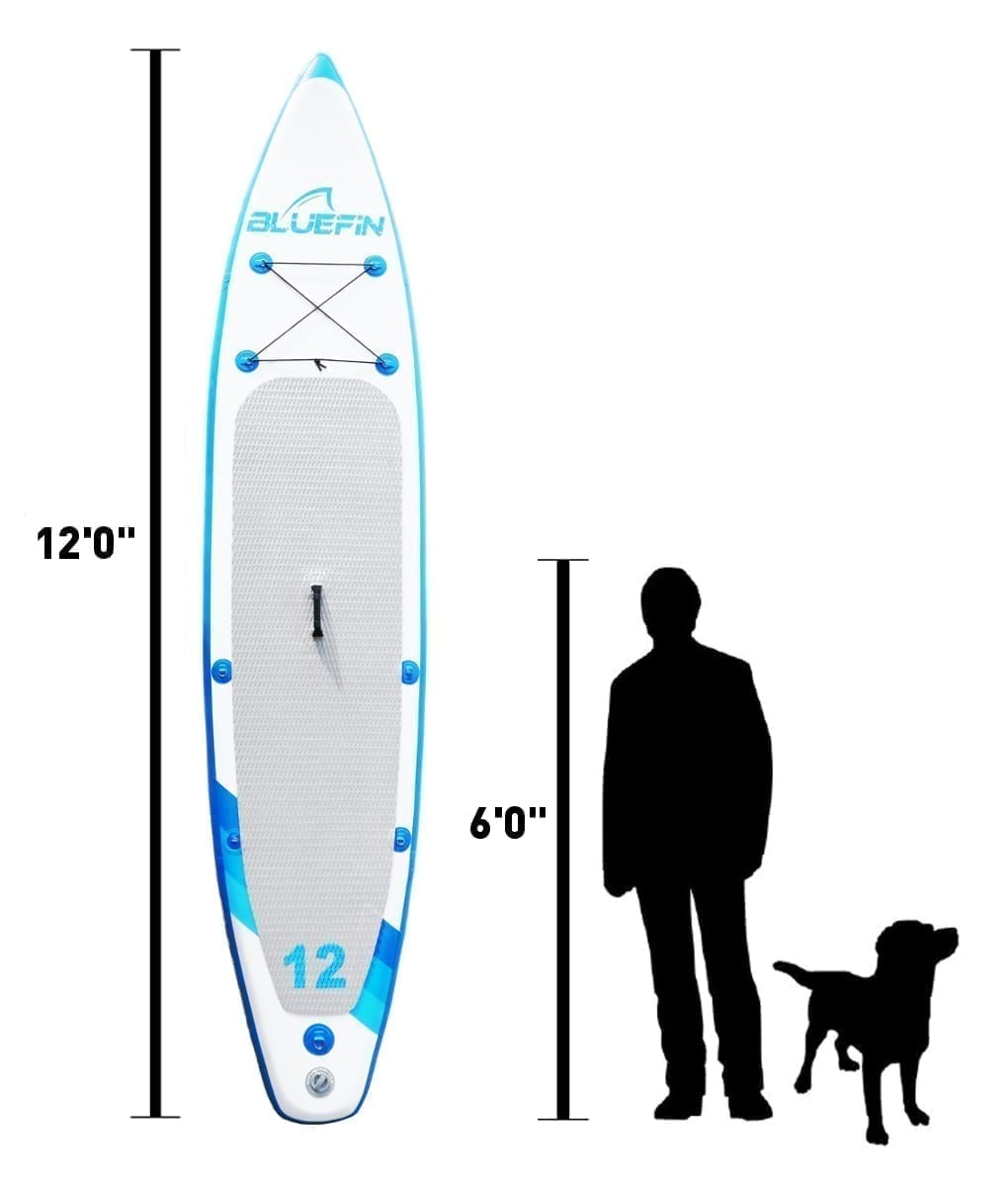 Bluefin inflatable stand up paddle board dimensions