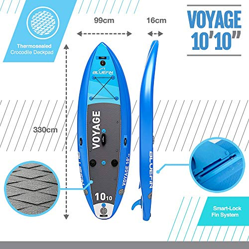 , Bluefin SUP 10′10″ Voyage Stand Up Paddle Board Kit – Ultimate Stability Paddle Board
