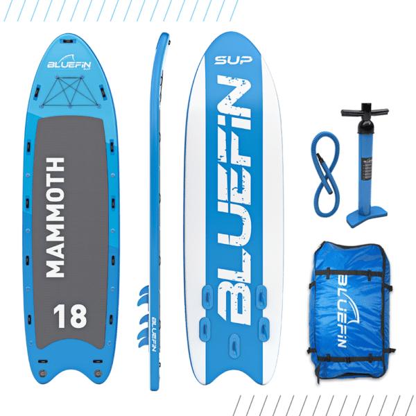 Family SUP, Bluefin Aufblasbares Steh-Paddle Board | Mammut 18′ Modell | Familien/Gruppen-Board – Bis zu 10 Nutzer