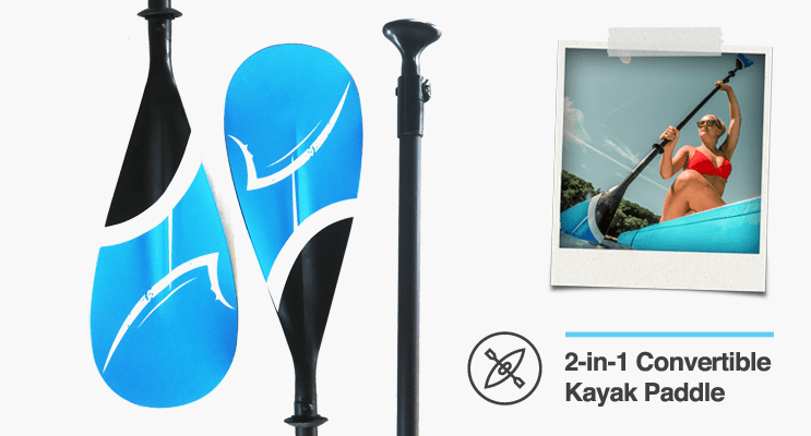 2-in-1 SUP to Kayak Paddle
