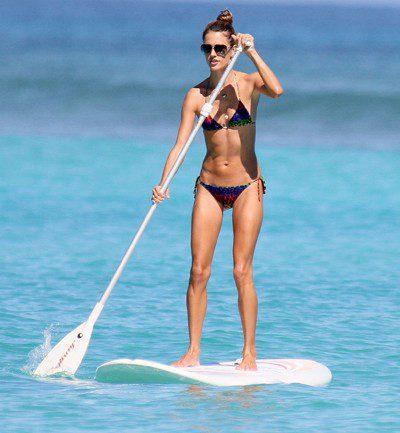 Victoria's secret model Alessandra Ambrosia on SUP