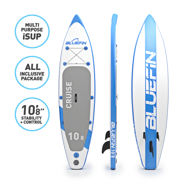 , BLUEFIN SUP 10'8″ CRUISE STAND UP INFLATABLE PADDLE BOARD WITH KAYAK CONVERSION KIT, ULTIMATE ISUP KAYAK BUNDLE