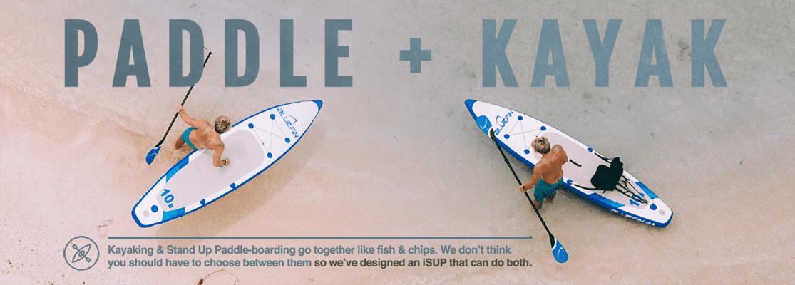 bluefin paddle kayak banner