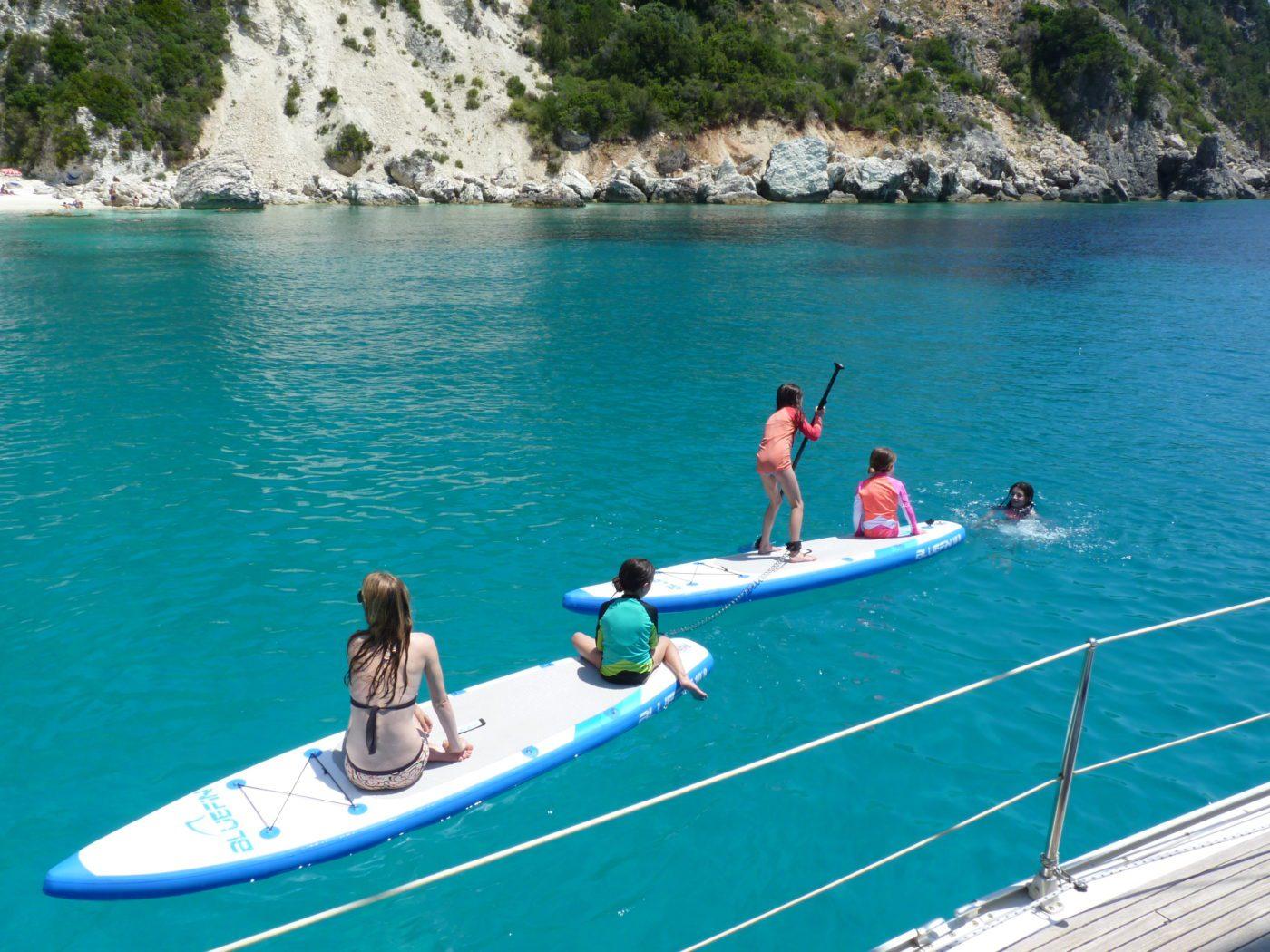 Activity Holidays Greece Kids tandem SUP