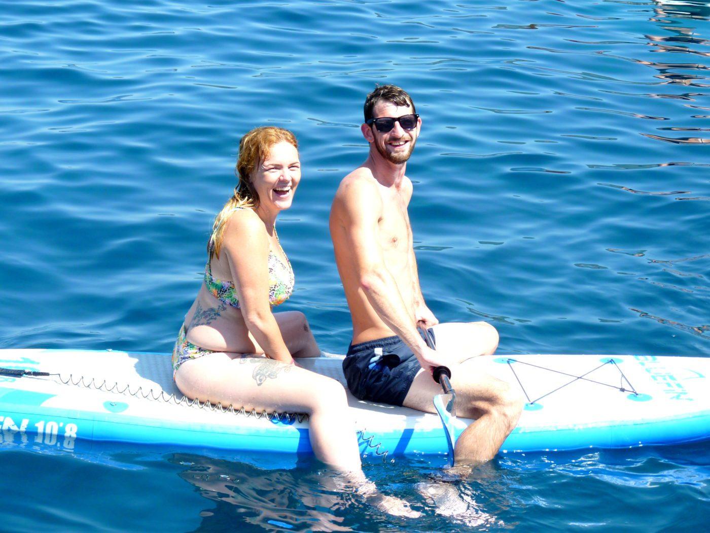 Activity holidays greece tandem SUP