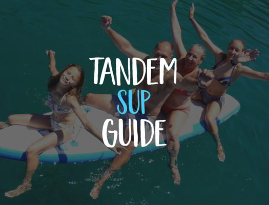 Tandem Stand Up Paddle Board guide - family on SUP