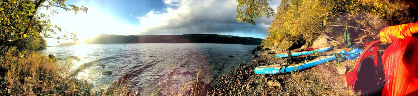 Wild SUP Camping Loch Ness - Bluefin SUP