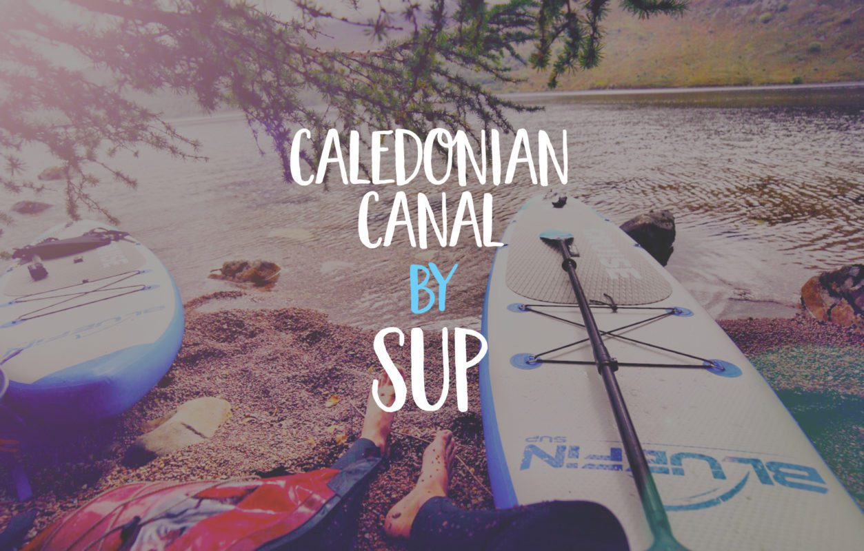 caledonian canal by sup touring board