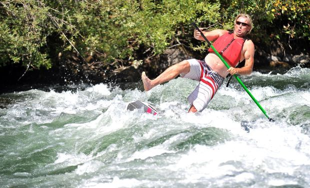 sup boards for whitewater missoulian.com guy falls on whitewater sup