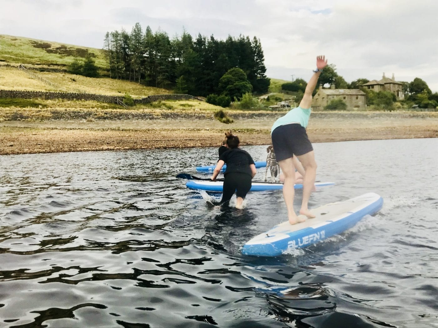 Bluefin SUP's lizzie has a walk on water moment