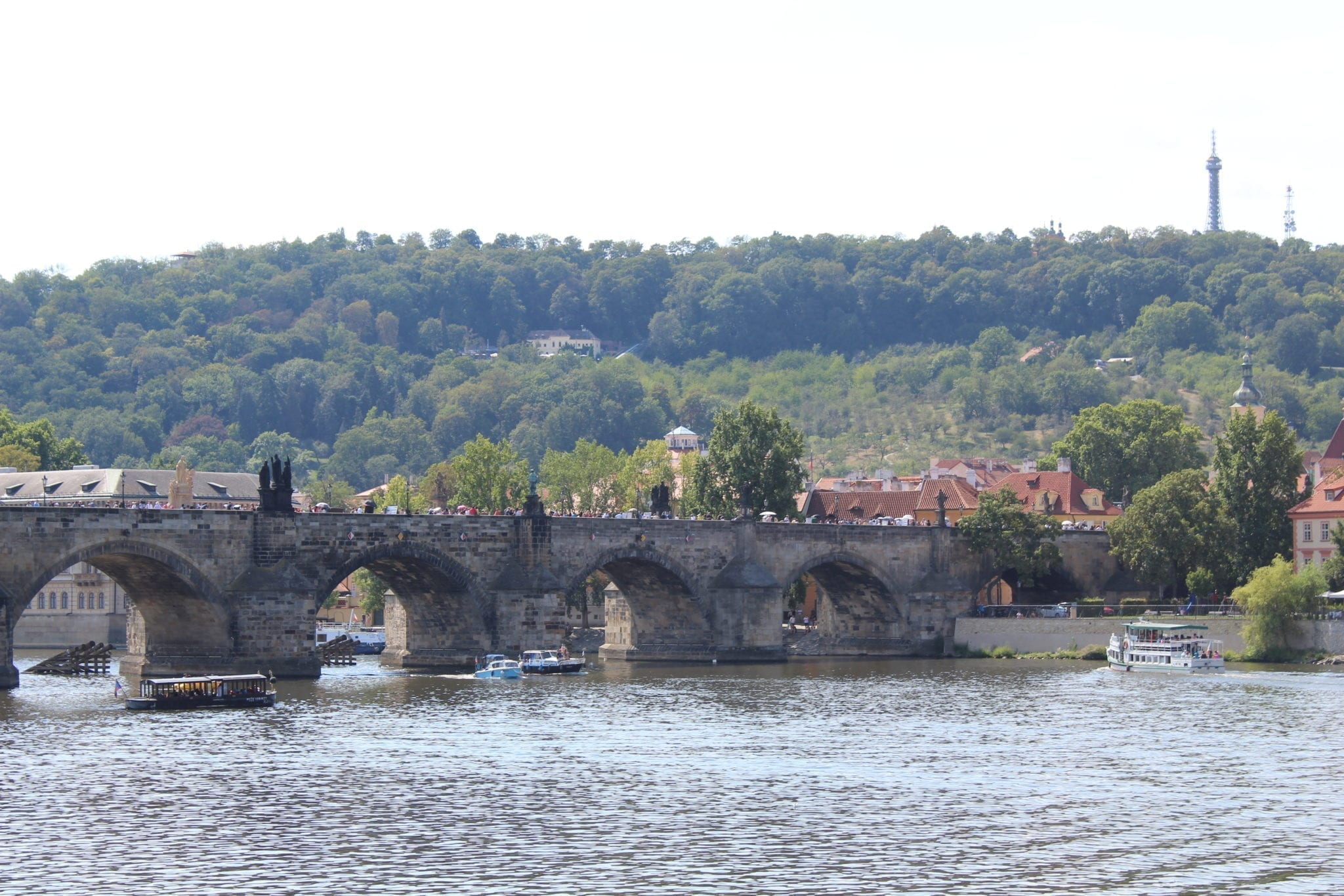 Old stone bridge over the Vtlava River in prague