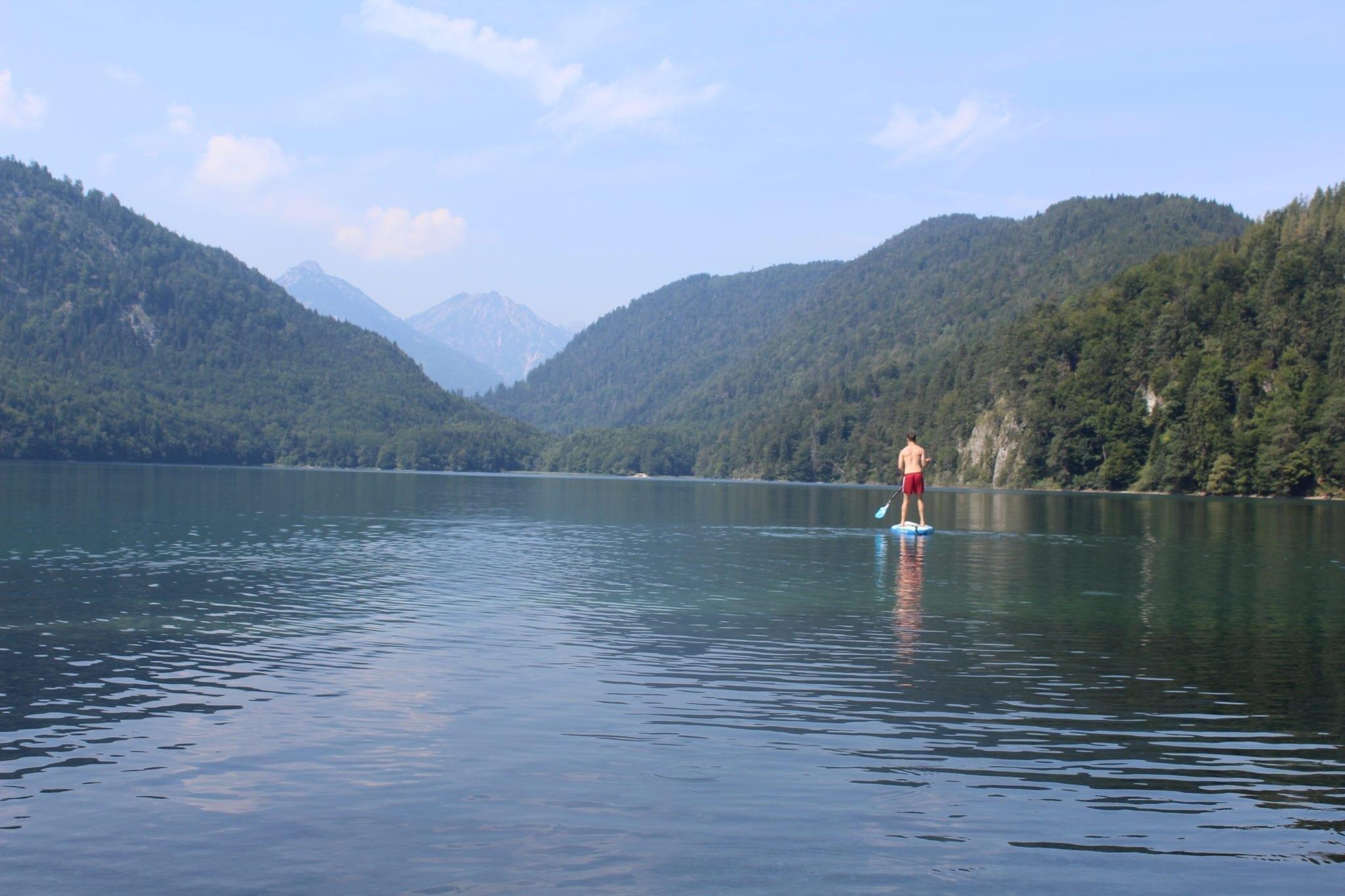 Placid paddling on the Alpsee