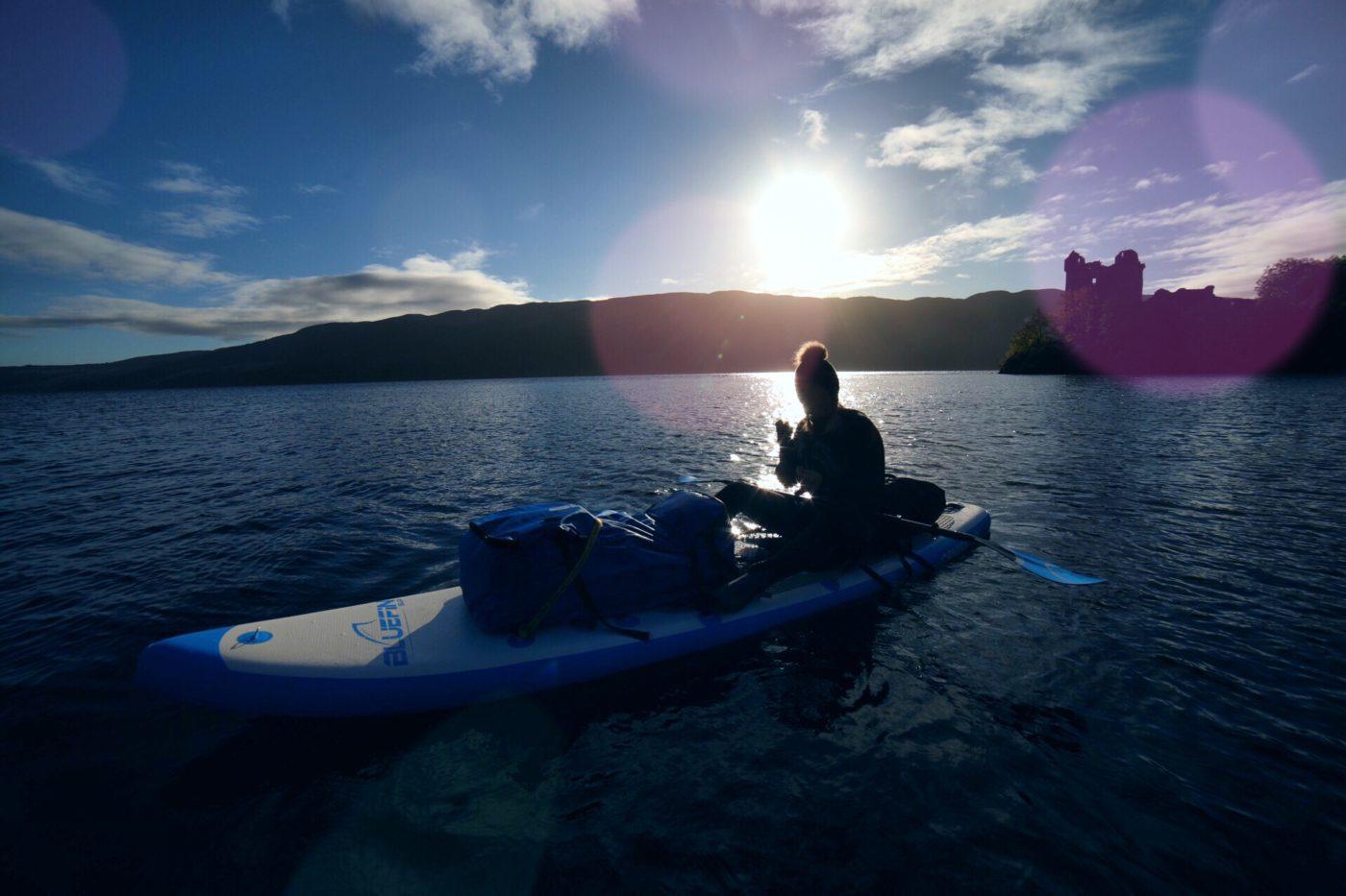 Bluefin SUP kayak Urquhart Castle Loch Ness