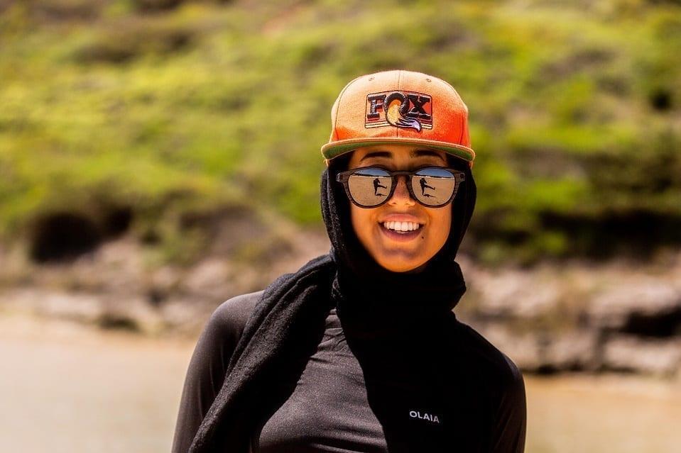 Yasmeen in her modest swimwear