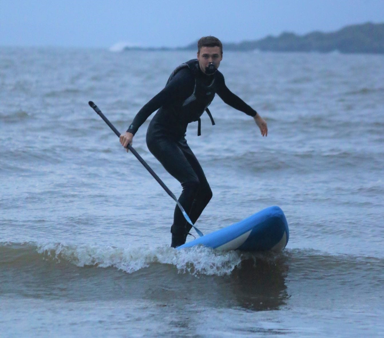 Cold weather Bluefin UP paddling in wetsuit