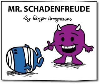 Mr. Schadenfreude cartoon - funny sup fails