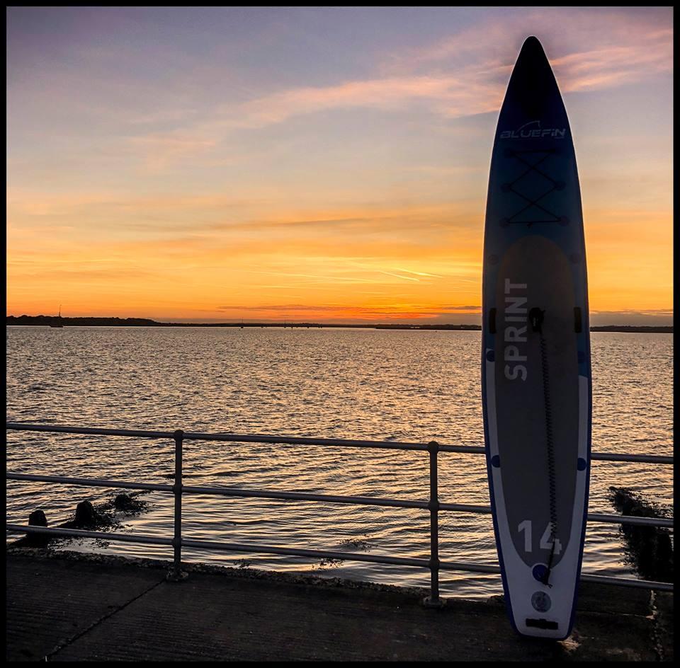 bluefin sup 14 Sprint Nick Devenney Sunset paddleboard
