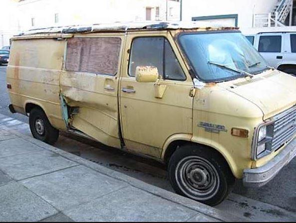 scary old van