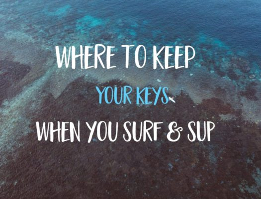 where to put keys when surfing
