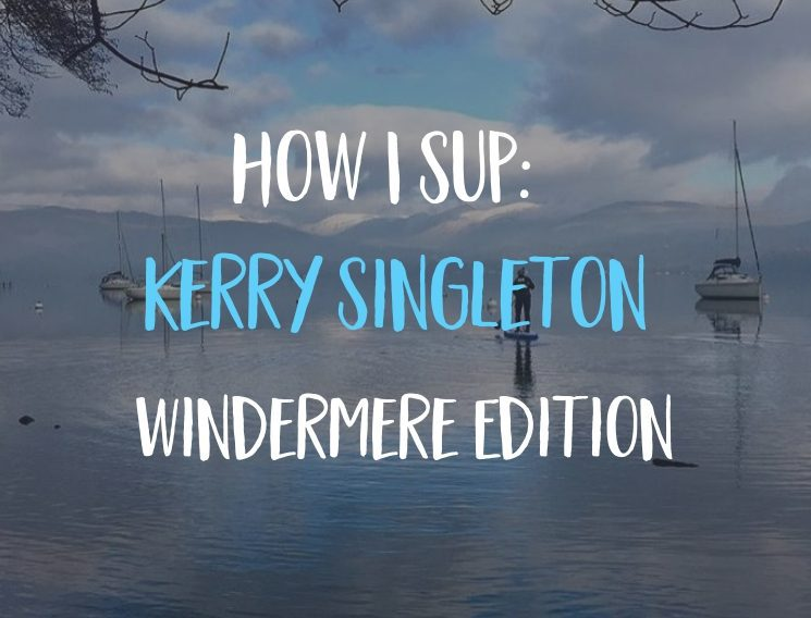 kerry singleton sups windermere on cold winter day
