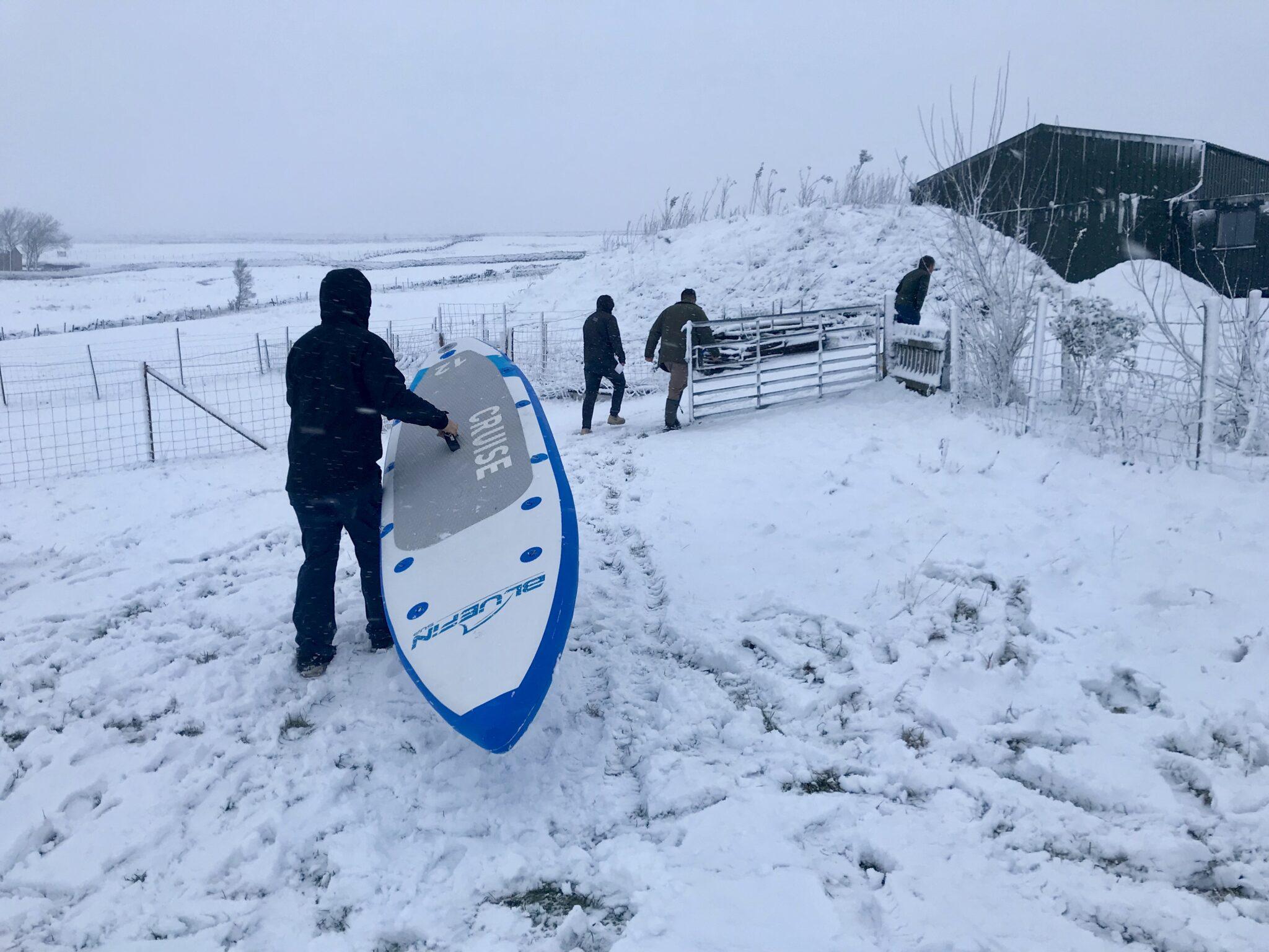 bluefin cruise SUP carried through snow