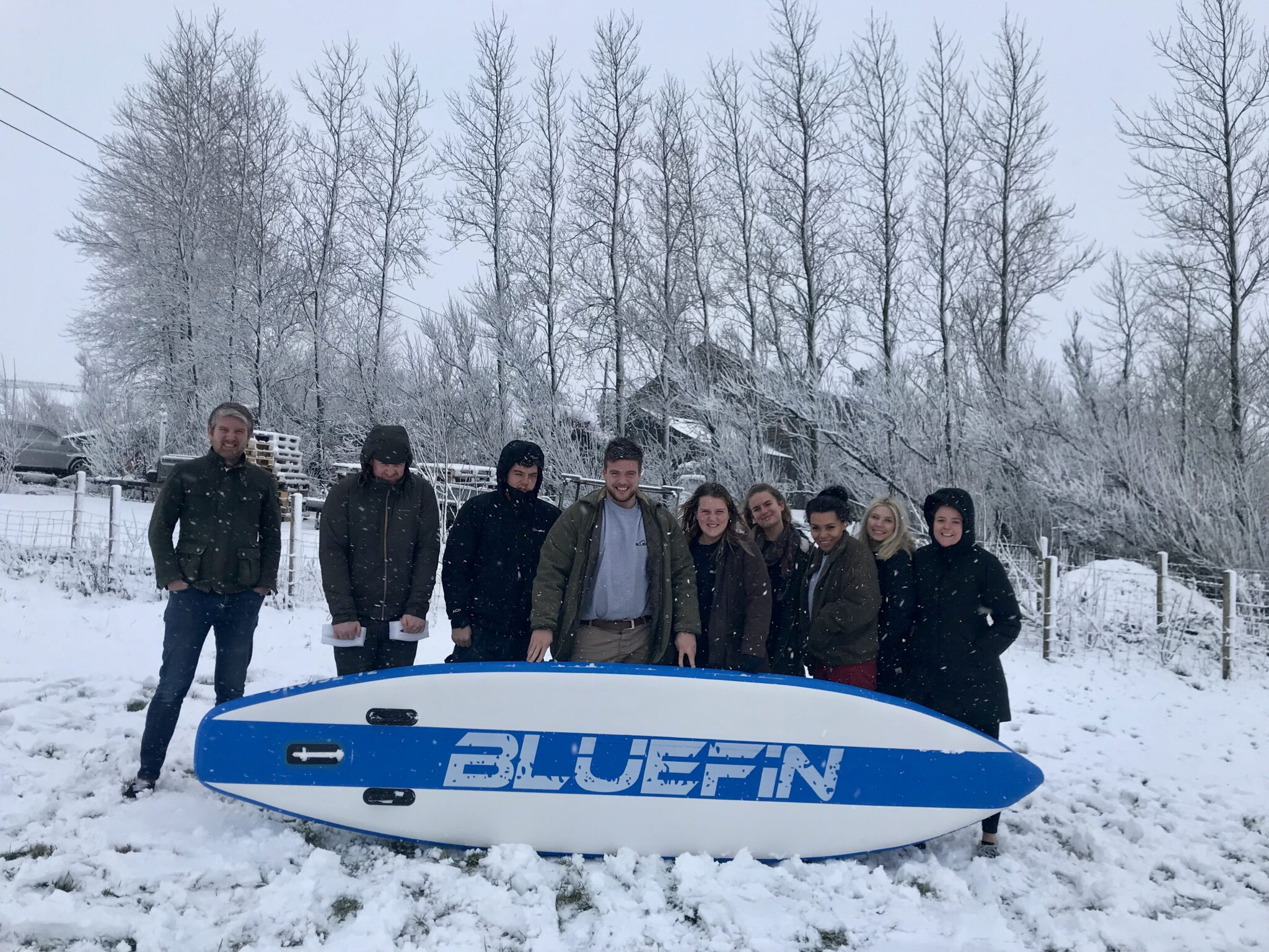 bluefin sup snow group shot