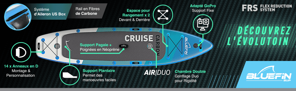 Standup Paddle Cruise Carbon de Bluefin