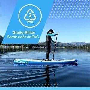 Tabla de Paddle Surf Hinchable para niños, Paquete de SUP Cruise Jr de Bluefin  | Tabla de Paddle Surf Hinchable para niños | 15cm de Espesor | Remo de Fibra de Vidrio | Kit de Conversión a Kayak
