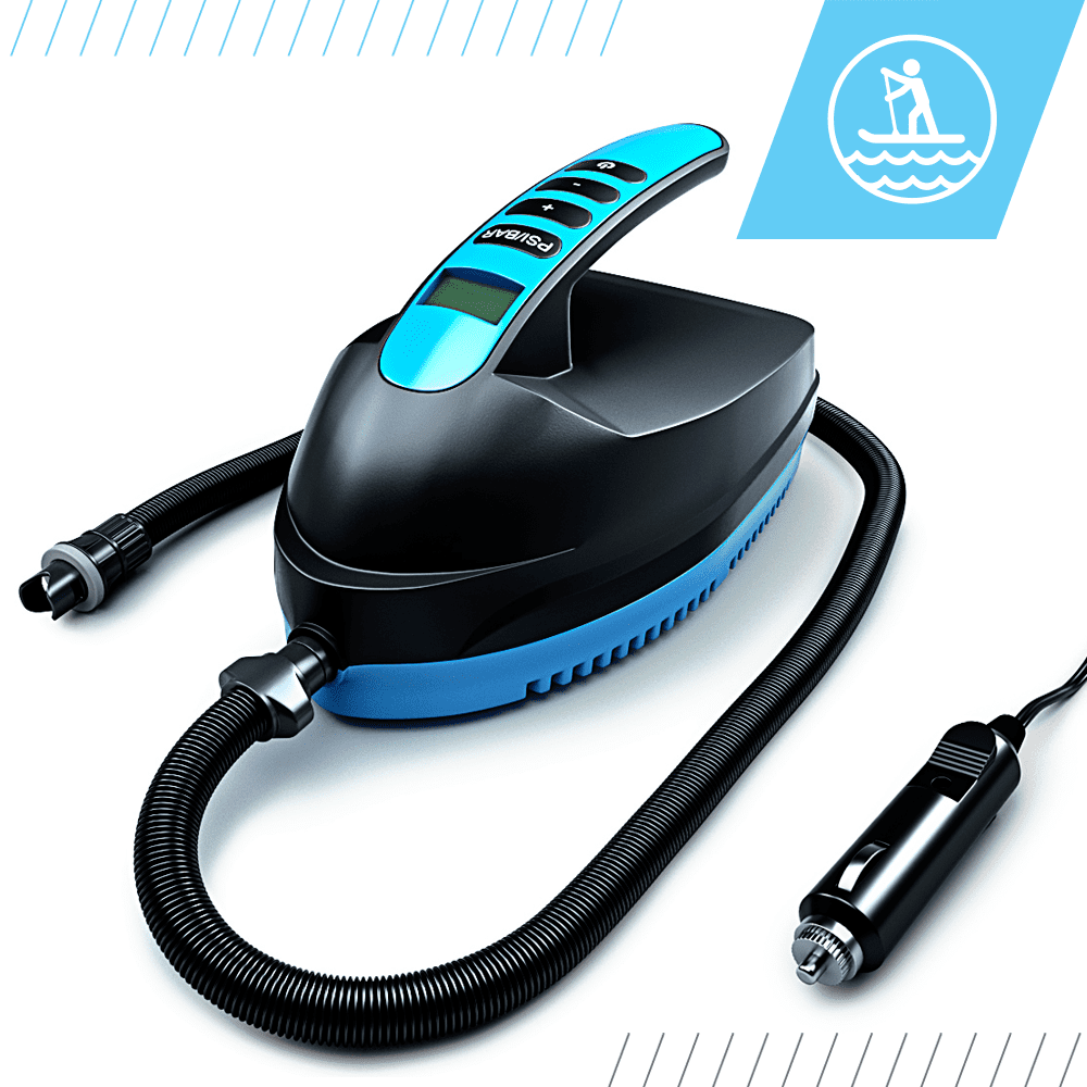 Bluefin Electric SUP Air Pump for Inflatable Paddle Board   12V DC   PSI/BAR