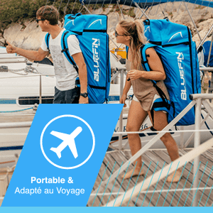 SUP 14′ Sprint Kit, Bluefin SUP Planche de Stand Up Paddle Gonflable | Modèle Sprint 14' | Modèle Randonnée/Compétition| Complet avec Tous Les Accessoires