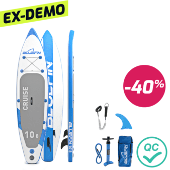 "Bluefin Cruise Carbon SUP Package, Bluefin Cruise Carbon SUP Package | Stand Up Inflatable Paddle Board | 6"" Thick 