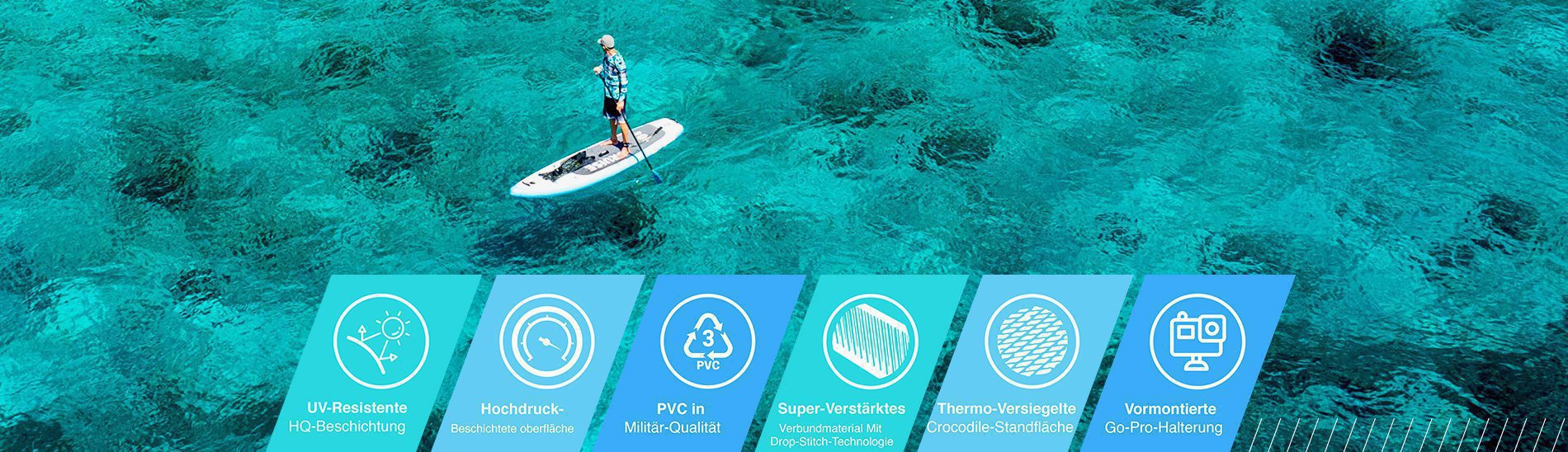 Bluefin stand up paddle board aufblasbar