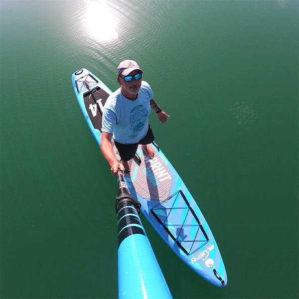 , Bluefin SUP 14′ Sprint Carbon Stand Up Paddle Board Kit – Advanced Touring SUP