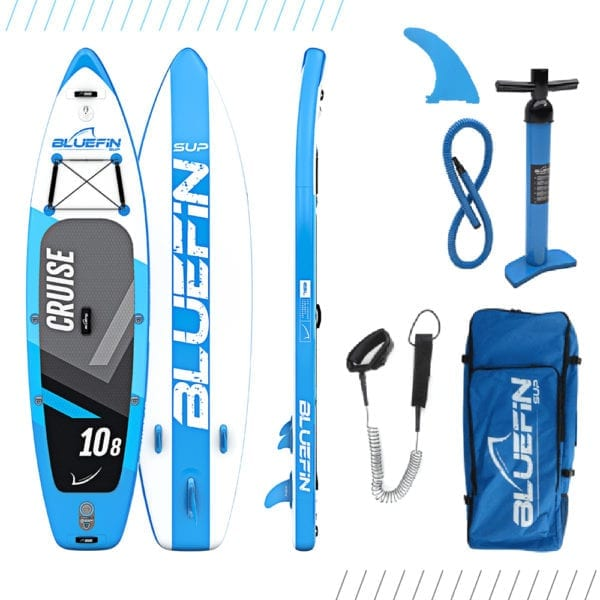 BLUEFIN CRUISE INFLATABLE STAND UP PADDLE BOARD, 10'8 Cruise Refurb GRADE A 2020